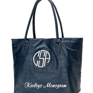 Monogrammed Tote Personalized Purse Auburn UVA Game Day Embroidered Handbag Kaileys Monogram Kaileysmonogram Bridesmaid