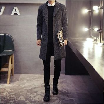 Single Breasted Trench Coat 2017 Fashion Designer Casual Classic Trenchs Mid-Long Slim Fit Jackets Coat Overcoat Free Shipping