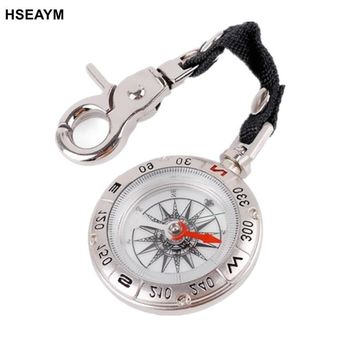 HSEAYM High Quality  Portable Metal Belt Hang Rope Type Pointing Guide Portable Handheld Compass