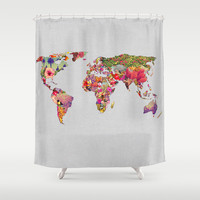 It's Your World Shower Curtain by Bianca Green