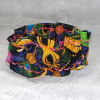 Mardi Gras (Scrunchie) Dog/Cat Collar Cover Small, Medium and Large