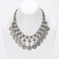 Vintage Coins Collar Necklace