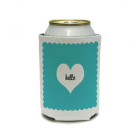 Hello Heart - Wedding Bridal Shower Valentines Can Cooler Drink Insulator Beverage Insulated Holder