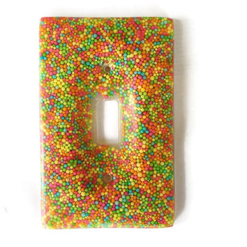 Bright Candy Sprinkle Resin Light Switch Cover / Plate