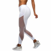 Sportswear Casual Workout Mesh Insert Leggings