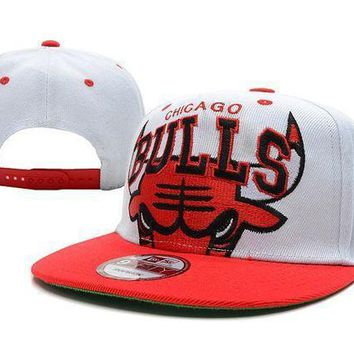 Chicago Bulls Nba 9fifty Cap White Red