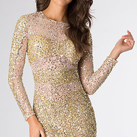 Short Sequin Long Sleeve Primavera Dress