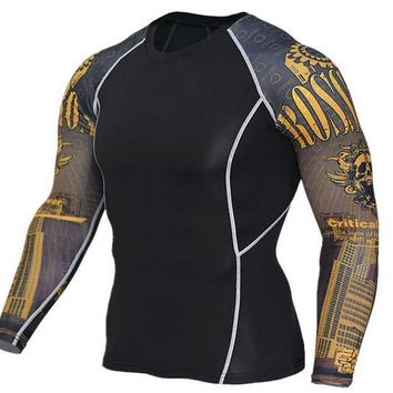 Iron Cross 3D Printed Compression Long Sleeve Shirt