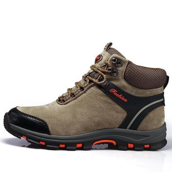 New Arrival Winter Hiking Shoes Genuine Leather Outdoor Boots Trekking Lace-up Climbing Mens Hunting Sneakers Men Male Walking