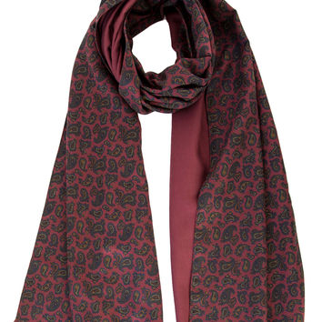 Santino-Double Face Thick Silk Paisley Scarf
