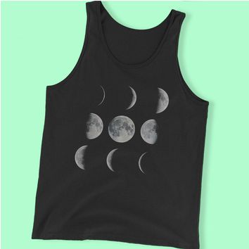 Moon Art Moon Phases Solar System Men'S Tank Top