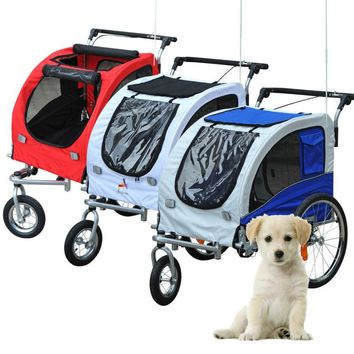 Elite Pet Dog Bike Trailer Bicycle Trailer Stroller Jogger w/ Suspension