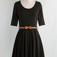 Minimal Short Length 3 Fit & Flare Abiding Beauty Dress in Black by ModCloth