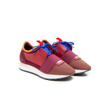 Balenciaga Multicolor Women Race Runner bordeaux Sneakers