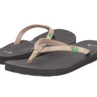 Sanuk Yoga Joy Metallic Champagne Sandals