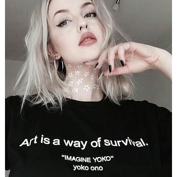 """Art Is A Way Of Survival"" Tee"