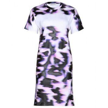 ONETOW balenciaga printed cotton t shirt dress 3