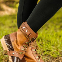 Take Her Duck Hunting Boots: Camel (PRE-ORDER 11/15)