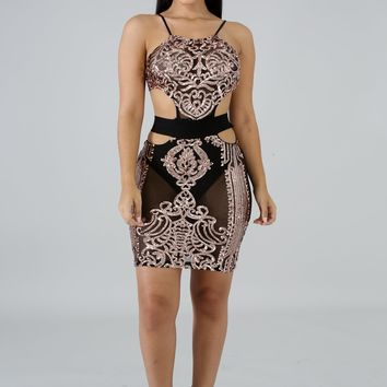 Lets Bring In The New Year Shimmering Sequin Dress - Black