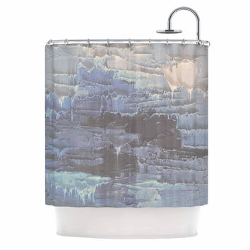 "Carol Schiff ""Four Seasons - Winter"" Gray Blue Painting Shower Curtain"