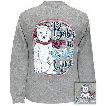 Girlie Girl Originals Preppy Baby Its Cold Outside Holiday Long Sleeve T-Shirt