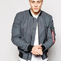 Alpha Industries | Alpha Industries MA1 Reflective Bomber Jacket Slim Fit at ASOS