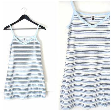 vintage 90s KAWAII striped mini dress BABY DOLL club kid stretchy raver dress medium