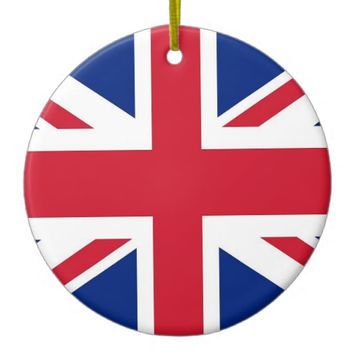 Ornament with flag of United Kingdom