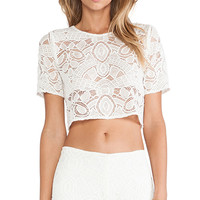 Alexis X REVOLVE Lisette Crop Top in Ivory