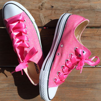 Cotton Candy Pink Glitter Converse Choose Your Color