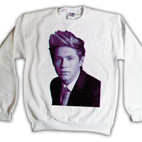 One Direction Niall Horan Pink & Blue Print Sweatshirt x Crewneck x Jumper x Sweater - All Sizes Available