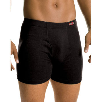 Hanes Mens TAGLESS No Ride Up Boxer Briefs with Comfort Soft Waistband Prints and Solids 5-Pack