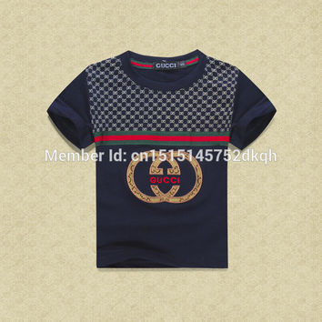 2015 new fashion brand boys cotton T-shirt