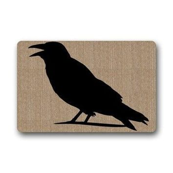"Autumn Fall welcome door mat doormat TSlook Fashions  Fashion Design Crow Welcome Indoor/Outdoor/Front Welcome (23.6""x15.7"",L x W) AT_76_7"