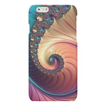 Shiny Foil Abstract Colorful Swirl Design Matte iPhone 6 Case