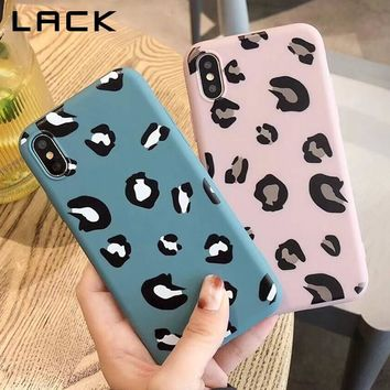 LACK Candy Color Leopard Print Phone Case For iphone XS Max For iphone XR X 8 7 6S 6 Plus Cover Ultra Slim Soft TPU Cases Coque