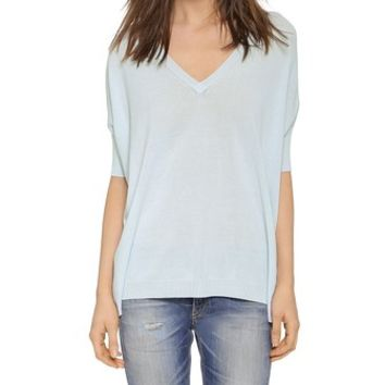 525 America V Neck Boxy Sweater