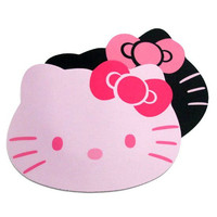 1PC Alfombrilla Raton Hello Kitty Mouse Pad Gaming Keyboard Pad Laptop Computer Mouse Pad Pink Black Colors Available