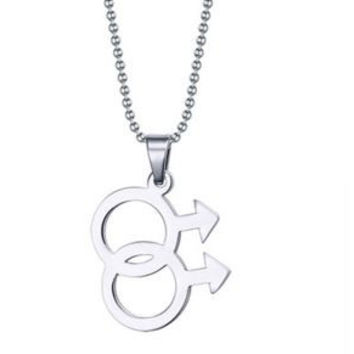 Gay Pride Stainless Steel Pendant Necklace
