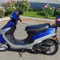 BRAND NEW 49CC GAS MOPED SCOOTER with Matching Trunk~BLUE~ (MPBD50QT-3-BLUE)
