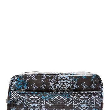 Marc By Marc Jacobs Blue Leather Rex Snake Martin Dopp Kit