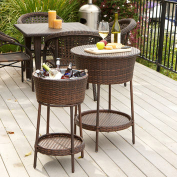 Christopher Knight Bar Set 2 Piece Bucket Wicker Tables