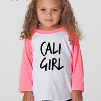 new* Cali Girl Toddler American Apparel Raglan