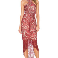 Elle Zeitoune Sage Dress in Wine