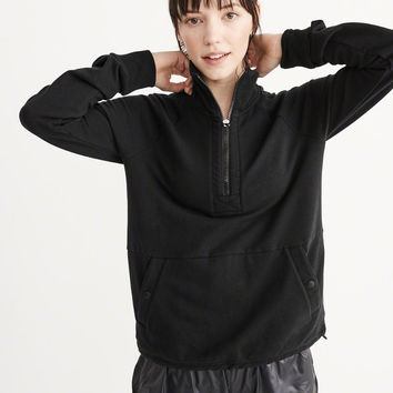 Womens Active Half-Zip Fleece | Womens New Arrivals | Abercrombie.com
