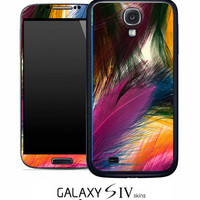 Colorful Feathers Skin for the Samsung Galaxy S4, S3, S2, Galaxy Note 1 or 2