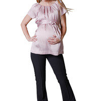Pour Deux Maternity For Two Pleated Neckline Raglan Maternity Tunic