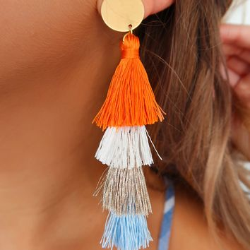 Believe In You Earrings: Orange/Multi