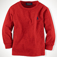Ralph Lauren Childrenswear 2T-7 Long-Sleeve Crewneck Tee - Polo Black
