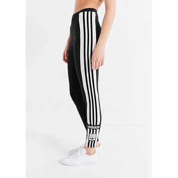 Adidas Classic Popular Women Casual Print Stripe Yoga Sport Stretch Pants Trousers
